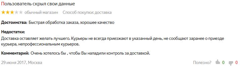 Отзывы об интернет-магазине FUNDAY на Яндекс Маркете 5